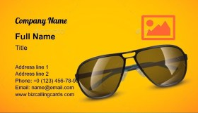 Illustration of sunglasses Business Card Template