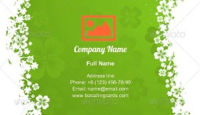 St. Patrick Day Frame Business Card Template