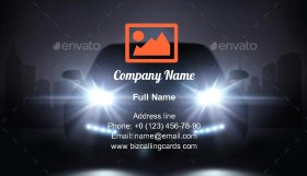 Modern Car Lights Business Card Template