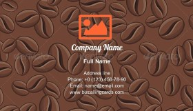 Coffee Seamless Pattern Business Card Template