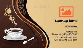 Coffee Mug illustration Business Card Template