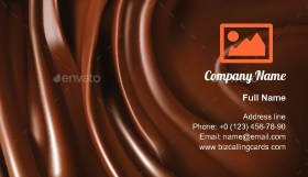 Chocolate treat smooth Business Card Template