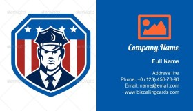 American Security Guard Business Card Template