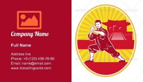 Shaolin Kung Fu Business Card Template