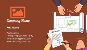 House or Apartment Contract Business Card Template