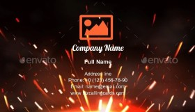 Fire Sparks of Metal Welding Business Card Template