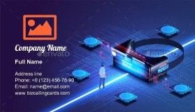 Virtual Reality Glasses Business Card Template