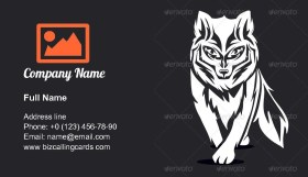 Silhouette of the Fox Business Card Template