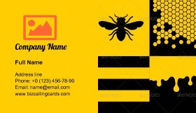 Bee Honeycells and Honey Business Card Template
