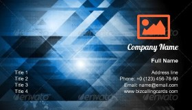 Abstract modern tech Business Card Template