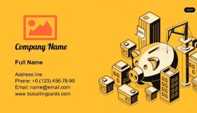 Real Estate Investment Isometric Business Card Template