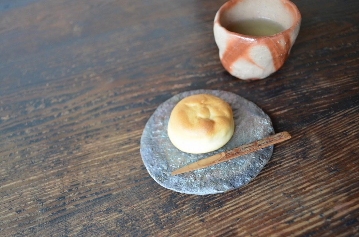 備前石目豆皿 Hiroaki Oomori -良寛まんじゅう-