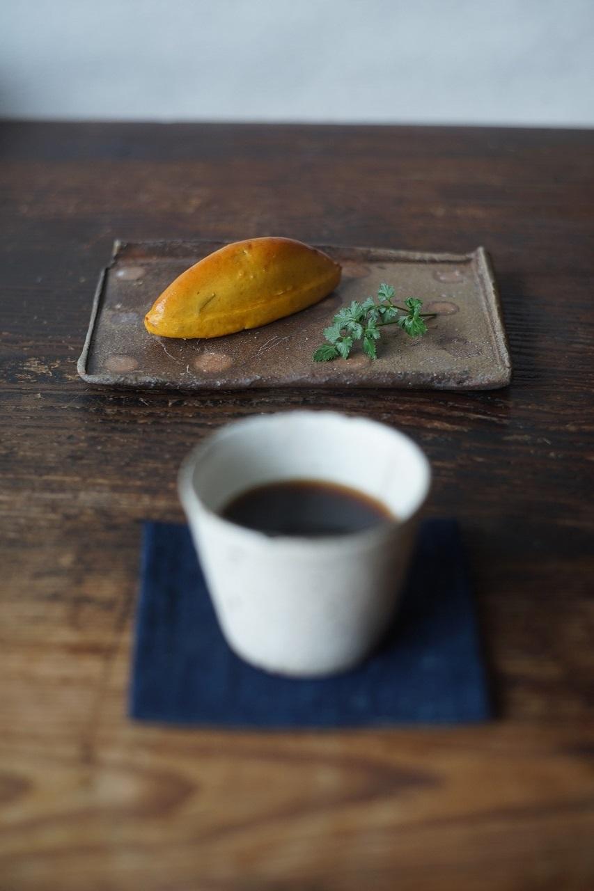 備前長方小皿 Takahiro Hosokawa -恩納芋スイートポテト-