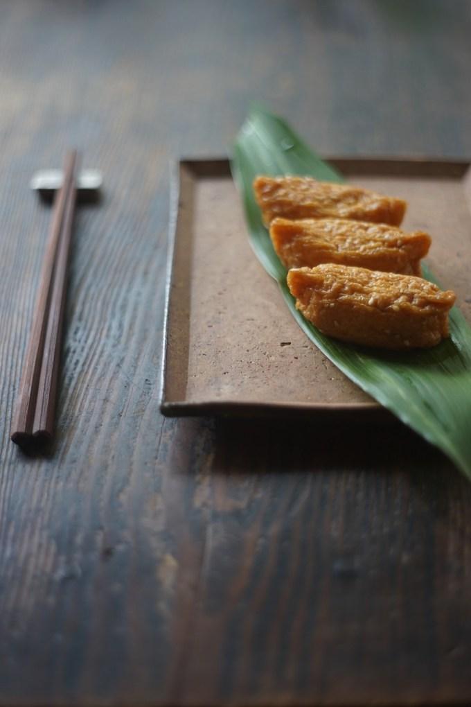 備前長方角皿 Masahiko Kondo -いなり寿司-