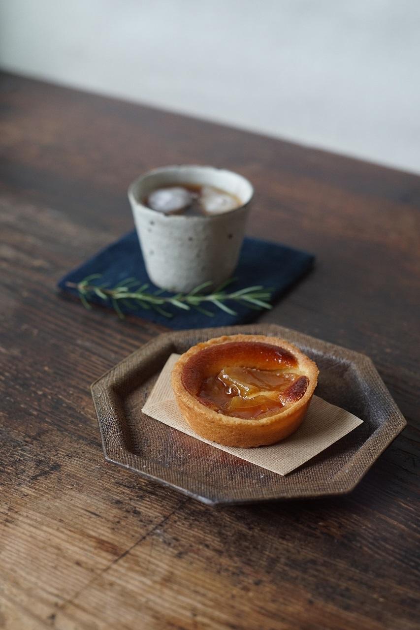 備前八角皿 So Isezaki -リンゴとカスタードのタルト-