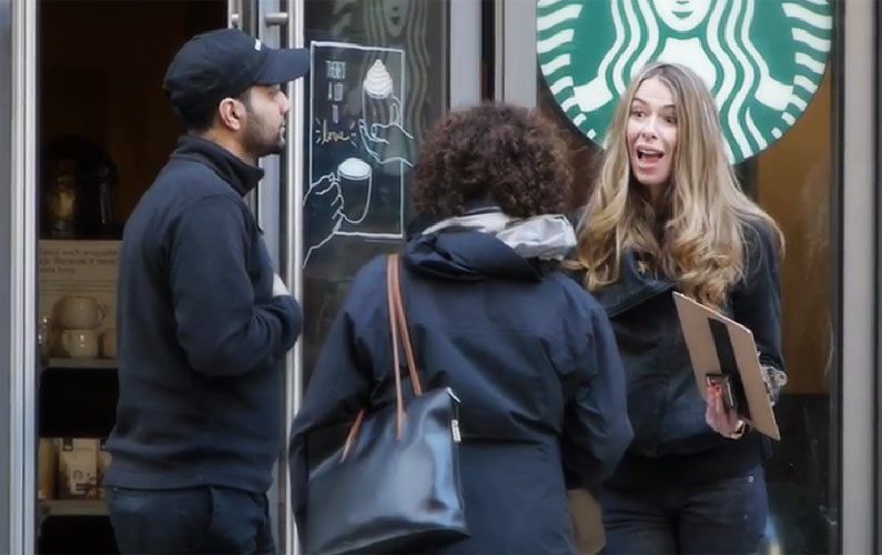 Hilarious Starbucks Prank