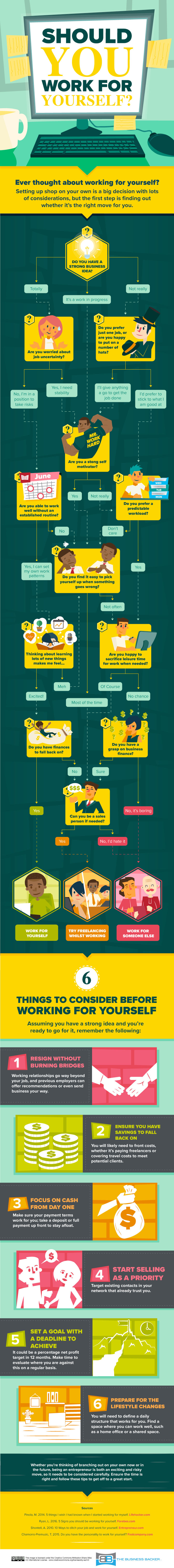 Should you work for yourself (infographipc)