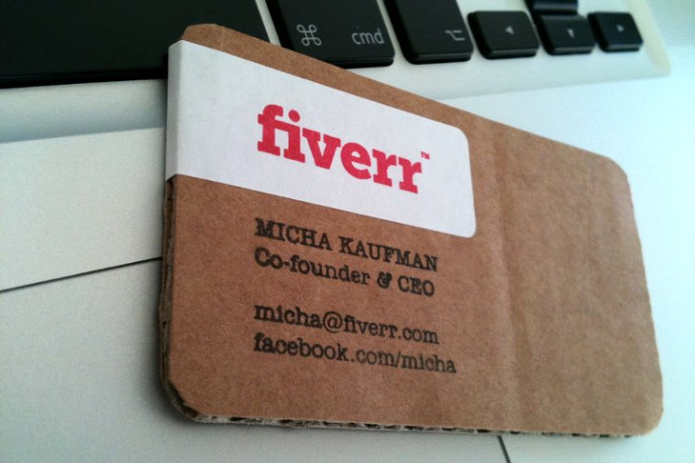 Fiverr business card