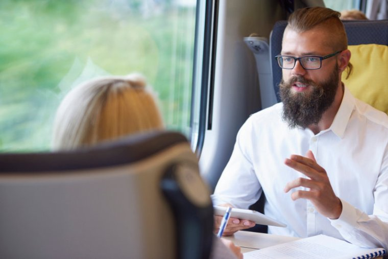 Business train travel