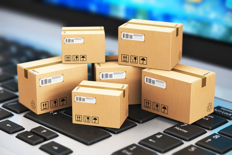 Searching for package delivery services online