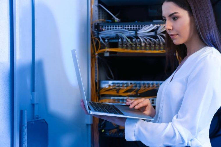 Female server engineer