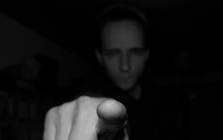 typical finger pointing behaviour of a gaslighter