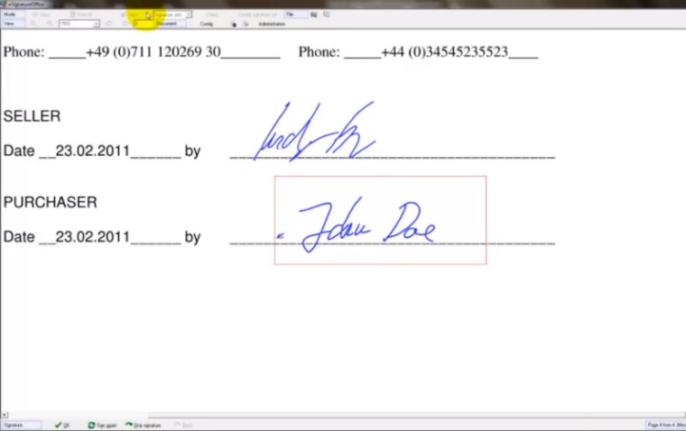 e-signatures provide easy access to signed documents.