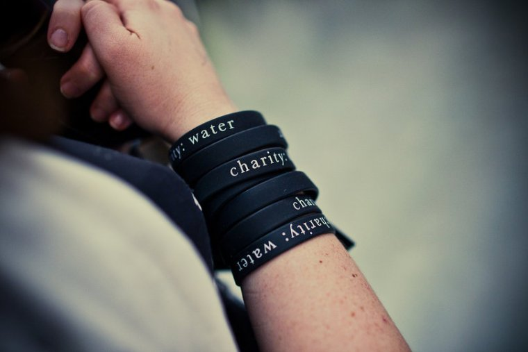 Charity:Water wristbands
