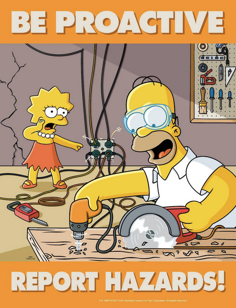 The Simpsons safety poster