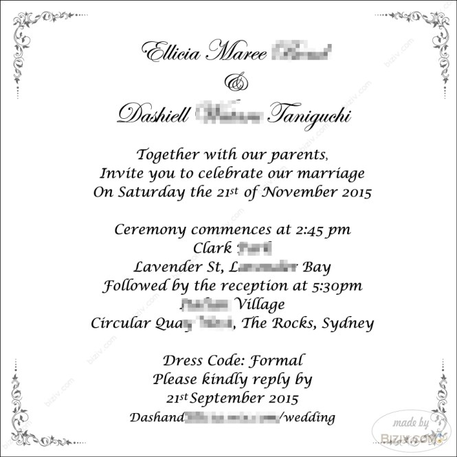 Hindu Indian Template Microsoft Word Wedding Invitation 5x5 In Square