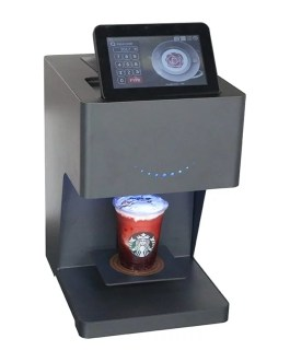 Smart Latte Coffee Food 3D Art Printer With Touch Screen