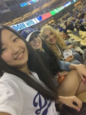 Summer Fashion Program Participants at Los Angeles Dodgers Game