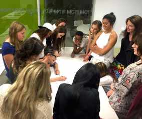 Summer Fashion Program Participants at FIDM Learning Sketching Technique