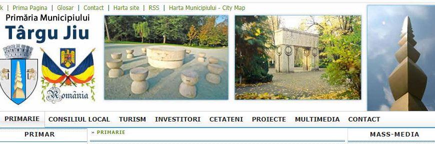 Cetățeanul Popescu Ion, rătăcit pe site-ul Primăriei Târgu-Jiu