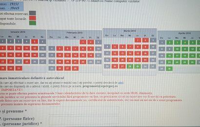 Programări peste trei luni la Înmatriculări