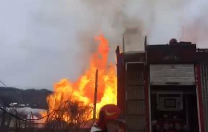 Explozie puternică la o conductă de gaz din Hurezani