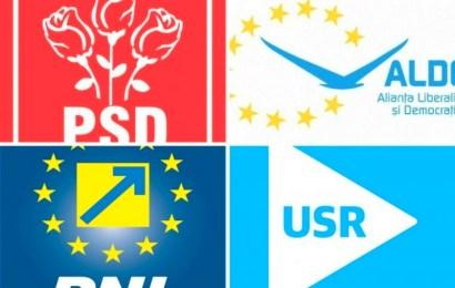 Câți primari are PNL, PSD și USR, la nivel național?