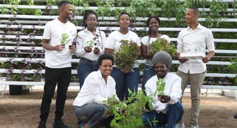 CAPTION (left to right): Back row: Sibusiso Mahlangu, Sibongile Cele, Fezile Msomi, Puseletso Mamogale and Khaya Maloney. Front row: Siyabonga Mngoma and Themba Baladzi