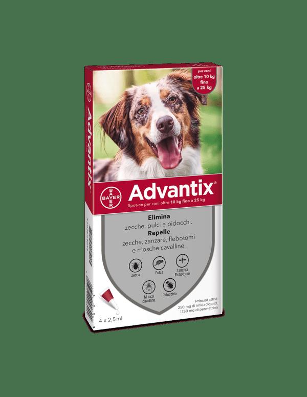 Bayer advantix spot-on 4 pipette per cani 10-25 kg