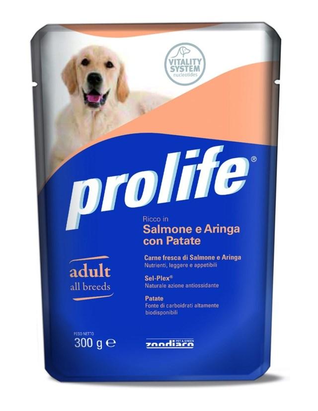 Prolife Dog Adult All Breeds Salmone e Aringa con Patate – 300 gr