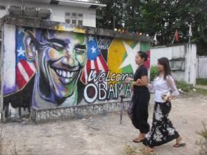 Obama mural in Burma