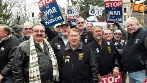 James Hoffa with Teamsters in Michigan