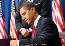 Barack Obama signing order