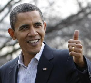 Obama thumbs up