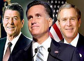 romney, Reagan, Bush