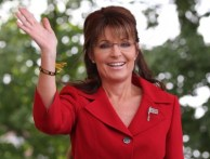 Sarah Palin waves