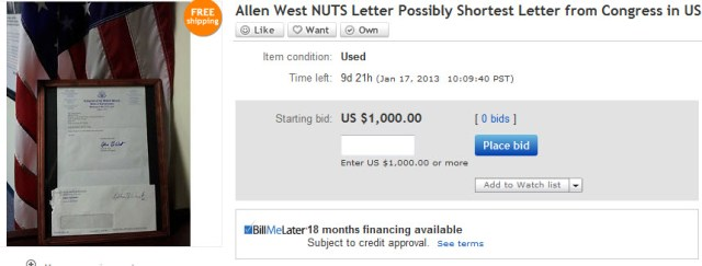 Allen West nuts ebay picAllen West nuts ebay pic