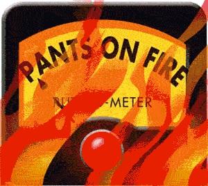 politifact pants on fire designation