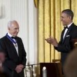 Obama and Peres award
