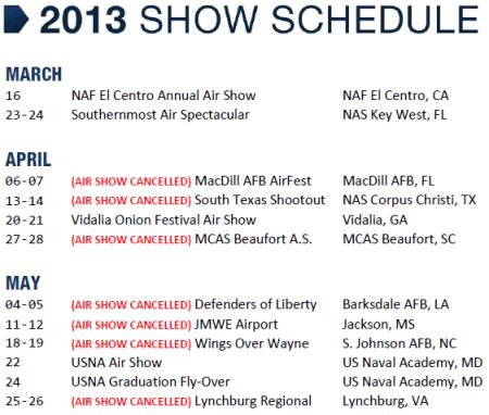 Blue Angels schedule
